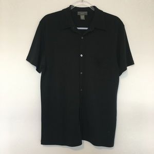 Banana Republic Black Stretch Button Down Shirt